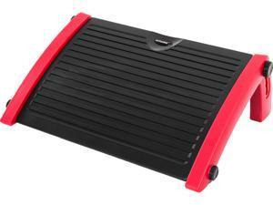 AKRacing Plastic Footrest Red, Adjustable to Multiple Tilt Angles (AK-FOOTREST-RD-NA)