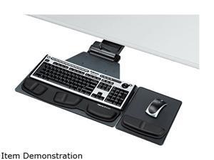 Fellowes 8035901 Professional Corner Executive Keyboard Tray, 19 x 14-3/4, Black