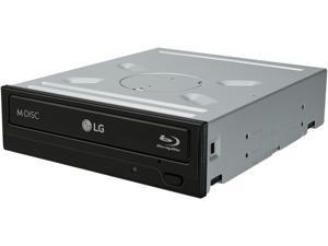 LG Black 16X Blu-Ray BDXL SATA Internal Rewriter with 3D Playback, Model BH16NS40