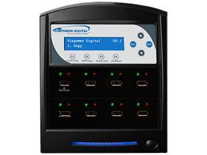 VINPOWER Black 1 to 7 1:7 USBShark Flash Memory Duplicator Model USBSHARK-7T-BK