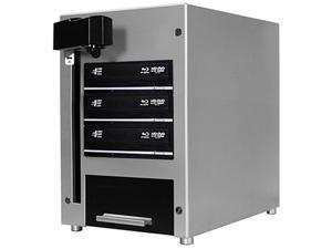 VINPOWER Silver 1 to 3 THE CUBE Automated Blu-ray DVD CD Duplicator - 3 Drive & 60 Disc Capacity Model CUB60-S3T-BD