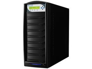 VINPOWER Black 1 to 7 Up to 256MB Buffer Memory SharkCopier DVD CD Disc Duplicator Tower with 320GB Hard Drive Model Shark-S7T-SNY-BK