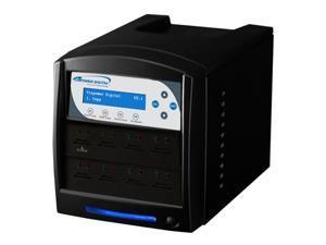 VINPOWER 1 to 7 128M Buffer Memory SDShark SD & MicroSD Duplicator Model SDShark-7T-BK