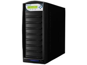 VINPOWER Black 1 to 7 128M Buffer Memory SharkNet DVD CD Network Duplicator Tower with 320GB Hard Drive Model SharkNet-7T-DVD-BK