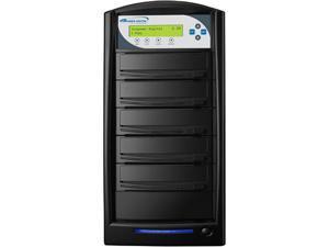 VINPOWER Black 1 to 4 128M Buffer Memory SharkCopier DVD/CD Tower Duplicator with 320GB Hard Drive Model SHARK-S4T-BK