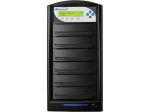 VINPOWER Black 1 to 5 128M Buffer Memory SharkCopier DVD/CD Tower Duplicator with 320GB Hard Drive Model SHARK-S5T-BK