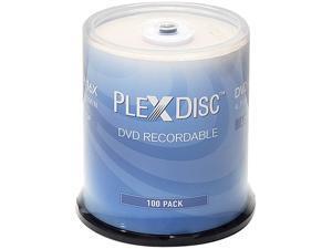 PlexDisc 4.7GB 16X DVD+R Branded Logo Top 100 Packs Disc Model 63C-815-BX
