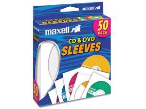 maxell 190135 CD-400 CD/DVD Sleeves (50-Pack)