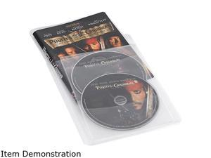 Atlantic 74604729 Movie Sleeves For CD DVD or Blu-Ray 25 Pack In Clear