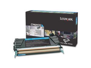 Lexmark C746A1CG Return Program Toner Cartridge - Cyan