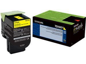Lexmark 70C1HY0 High Yield Return Program Toner Cartridge - Yellow