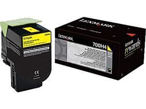 Lexmark 70C0H40 High Yield Toner Cartridge - Yellow