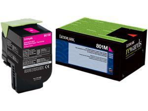 Lexmark 80C10M0 Return Program Toner Cartridge - Magenta