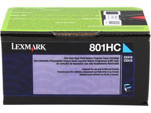 Lexmark 80C1HC0 High Yield Return Program Toner Cartridge - Cyan