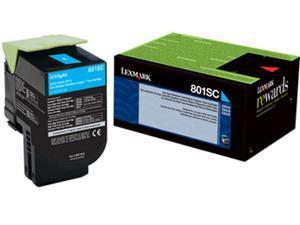 Lexmark 80C1SC0 Return Program Toner Cartridge - Cyan