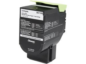 Lexmark 80C1HK0 High Yield Return Program Toner Cartridge - Black