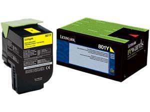 Lexmark 80C10Y0 Return Program Toner Cartridge - Yellow