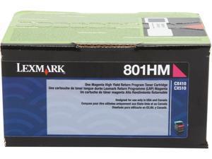 Lexmark 80C1HM0 High Yield Return Program Toner Cartridge - Magenta