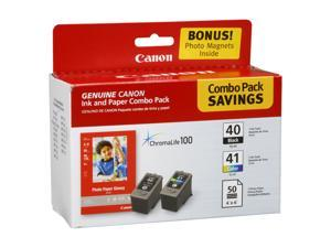 Canon PG-40/CL-41 Ink Cartridge - Combo Pack - Black/Color/Paper