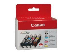 Canon CLI-221 Ink Cartridge - Combo Pack - Black/Cyan/Magenta/Yellow