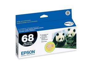 EPSON 68 (T068120-D2) Dual Pack High-Capacity Ink Cartridges Black