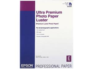 EPSON S042084 Ultra Premium Photo Paper, Luster, 17 x 22, 25 Sheets/Pack