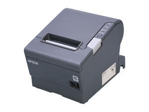 "Epson TM-T88V 3"" Single-station Thermal Receipt Printer, USB, Parallel, Dark Gray - C31CA85834"