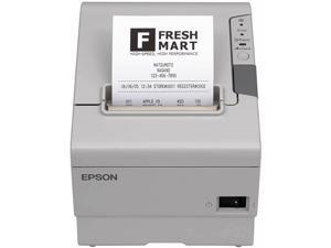 "Epson TM-T88V 3"" Single-station Thermal Receipt Printer, USB, Serial, White - C31CA85014"