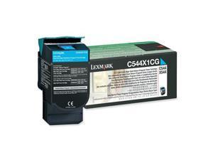 Lexmark C544X1CG Extra High Yield Return Program Toner Cartridge - Cyan