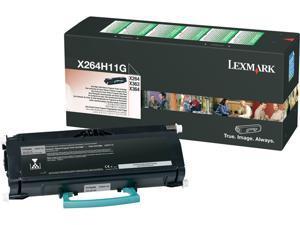 Lexmark X264H11G High Yield Return Program Toner Cartridge - Black