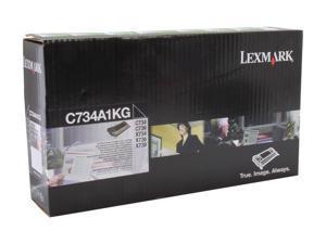 Lexmark C734A1KG Return Program Toner Cartridge - Black