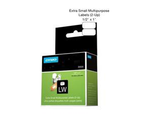Dymo 30333 Labelwriter Multipurpose Labels 0.5 x 1 Inches, 1000 Labels/Roll, 1 Roll/Box