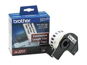 """Brother Continuous Film Label Tape 1.1"""" x 50 ft. Roll White"""