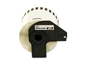 Brother DK4605 2.4 in x 100 ft. (62 mm x 30.4 m) Black on Yellow Removable Continuous Length Paper Tape