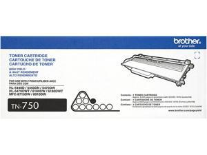 Brother TN750 High Yield Toner Cartridge - Black