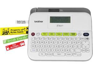 Brother P-touch PT-D400AD Versatile, Easy-to-Use Label Maker, Thermal Transfer, 180 dpi, 20mm./sec, Up to 5 Print Lines, Manual Cutter, Barcode Printing
