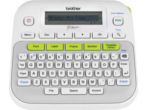 Brother P-touch PT-D210 Easy-to-Use Label Maker, Thermal Transfer, 180 dpi, 20mm./sec, Up to 2 Print Lines, Manual Cutter