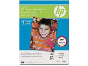 "HP Q8723A Everyday Photo Paper Letter - 8.50"" x 11"" - Recycled - Semi-gloss - 50 / Pack"
