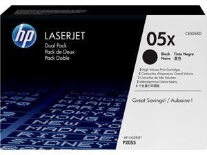 HP 05X High Yield LaserJet Toner Cartridge - Dual Pack - Black