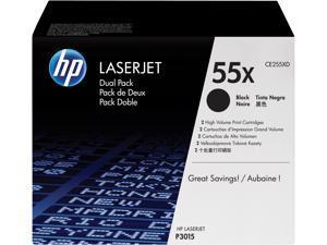 HP 55X High Yield LaserJet Toner Cartridge - Dual Pack - Black
