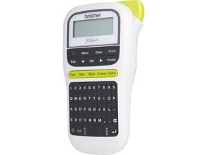Brother P-touch PT-H110 Easy, Portable Label Maker, Thermal Transfer, 180 dpi, 20mm./sec, Up to 2 Print Lines, Manual Cutter