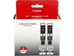 Canon PGI-250 XL High Yield Ink Cartridge - Dual Pack - Pigmented Black