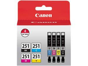 Canon CLI-251 Ink Cartridge - Combo Pack - Black/Cyan/Magenta/Yellow