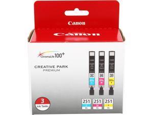 Canon CLI-251 XL High Yield Ink Cartridge - Combo Pack - Cyan/Magenta/Yellow