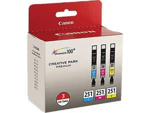 Canon CLI-251 Ink Cartridge - Combo Pack - Cyan/Magenta/Yellow