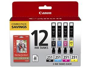 Canon CLI-251 Ink Cartridge - Combo Pack - Black/Cyan/Magenta/Yellow/Paper