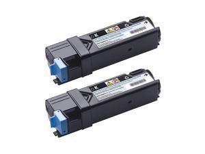 Dell 84R1W (331-0720) Dual Toner Cartridge for Dell 2150cn, 2150cdn, 2155cn, and 2155cdn Color Laser Printers Black