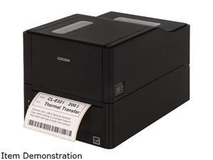 "Citizen CL-E321XUBNNA CL-E321 4"" Compact Thermal Transfer + Direct Thermal Label Printer, 203 dpi, USB, LAN, Serial - Black"
