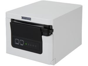 """CITIZEN CT-S751 CT-S751RSUWH Direct Thermal 350 mm / sec 203 dpi 3"""" Thermal POS Printer, Front Load, USB & Serial, White"""