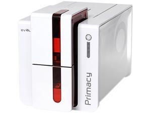 Evolis PM1H0000RS Primacy Simplex Expert Card Printer - Single-sided - White/Red